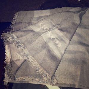 NWT Coach scarf pale blue
